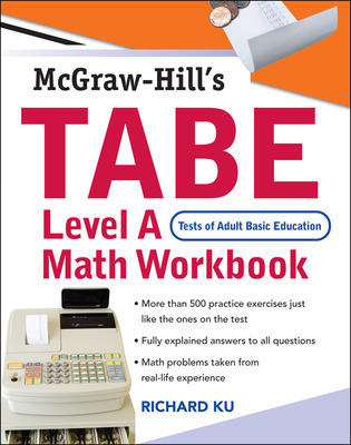 TABE (Test of Adult Basic Education) Level A Math Workbook
