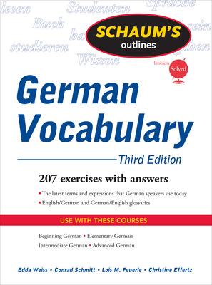 Schaum\'s Outline of German Vocabulary, 3ed