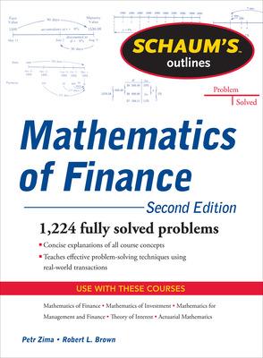 Schaum\'s Outline of  Mathematics of Finance, Second Edition